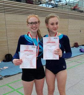 Die strahlenden Siegerinnen: Miri & Hannah