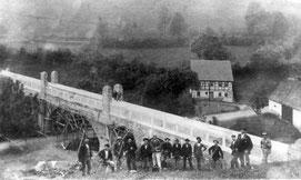 Das Aquädukt kurz vor der Fertigstellung 1907