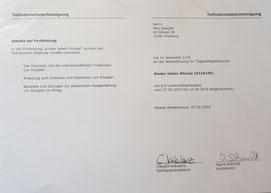"Fortbildung ""Kinder lieben Rituale"" im Mai 2019"
