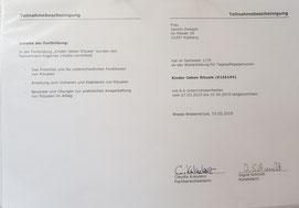 "Fortbildung "" Kinder lieben Rituale"" im Mai 2019"