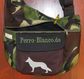 Gassitasche,  Tasche , Hund, weißer Schäferhund