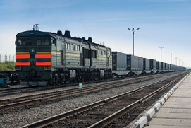 ….so are trans Eurasian trains running between China and Europe  /  source: DB