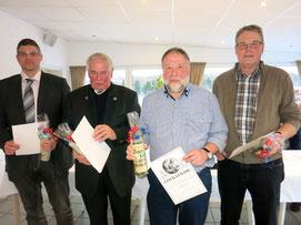 v.l.: Tobias Geske, Winfried Heibel, Edi Beyer und Paul Müller