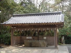 八幡古表神社の手水舎