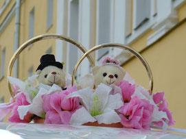 Hochzeitstorte, Tortendeko, Tortenfiguren Bären