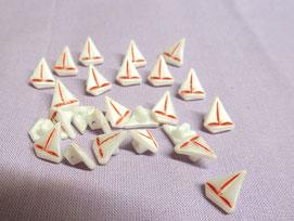 Puppenknopf Segelschiff