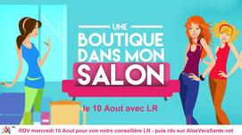 Aloe vera : Lisa conseillère chez LR Health and Beauty participe a l'émission une boutique dans mon salon