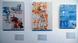 Reproducciones de acuarelas originales de Hugo Pratt./ © Ana Rodríguez