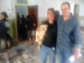 Angel con Moses y el director Andres Fernando Ardila Uribe