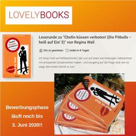 """Lovelybooks Leserunde """"Chefin küssen verboten!"""", Regina Wall"""