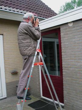 mijn vader aan het werk