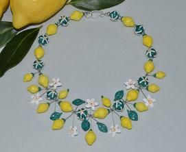 Zitronenkette aus Glas