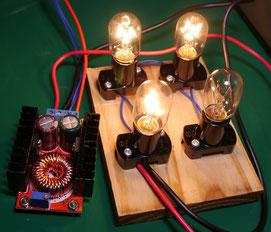 220V 10W bulb dummy load testing