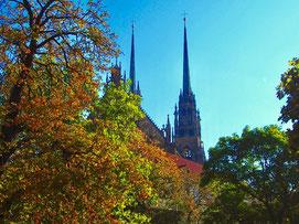 hoch über Brünn, die Kathedrale St. Peter und Paul
