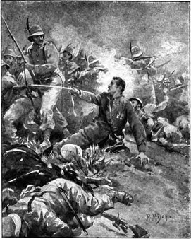 Il tenente colonnello Menini (stampa del 1897)