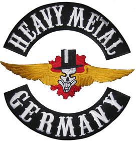 Heavy Metal Backpatch, Germany Buttom Rocker Rückenaufnäher, Abzeichen