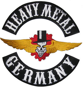 Heavy Metal Backpatch, Germany Buttom Rocker Rückenaufnäher, Abzeichen