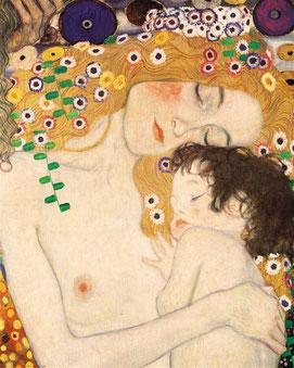 """Gustav Klimt, """"Le tre età"""""""