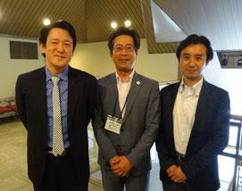 患者会顧問である、東京医科大学耳鼻咽喉科教授 新宿ボイスクリニック院長 渡嘉敷亮二先生、前衆議院議員 初鹿明博さんと