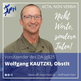 Obstlt Wolfgang Kautzki, Vorsitzender des DA-JgB25