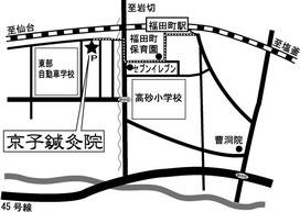 仙石線の福田町駅から徒歩5分の場所の案内地図