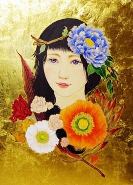 「華娘」日本画 F4
