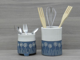 Petit pot à couverts percé 32€ - Grand pot pour grands couverts  28€