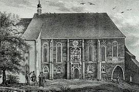 Schloßkirche im frühen 19. Jahrhundert