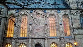 Nordfassade der Schloßkirche, einst Benediktinerkloster