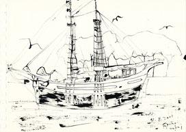 バルセロナの舟