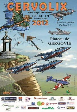 Cervolix 2012 plateau de Gergovie clermont ferrand 2012 Rafale solo display 2012 patrouille de france 2012 starduster EVAA 2012 cerf volant
