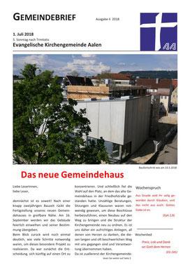 Gemeindebrief Aalen 2018-07