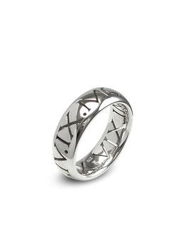 Silber Datum Ring römische Ziffern