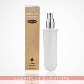 Beauty Hills, Kosmetik, Umweltschutz, Nachhaltigkeit, Nachfüller, Refill, Produkt Cleanser Sensitive