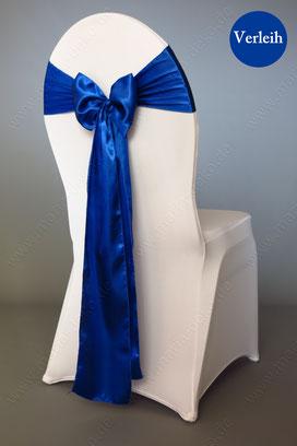 Stuhlschleifen in Farbe Royalblau mieten