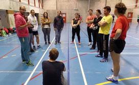 Les stages de formation à l'encadrement se succèdent sous la direction de Jérôme.  Le plein d'astuces et de conseils pour l'équipe d'encadrement du club.