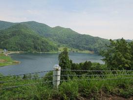 穏やかな野尻湖の眺め(*´▽`*)