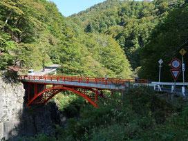 真っ赤な前倉橋に到着。ここからの眺めが良くて好きな場所です!