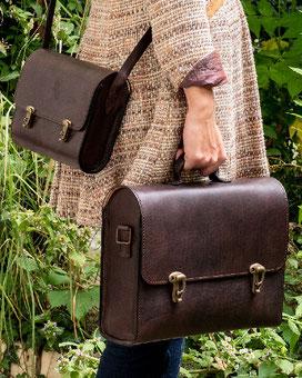 klassische Taschen von Luisa Hahn in Ranzenform