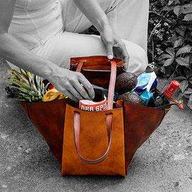 Tasche als Shopper genutzt