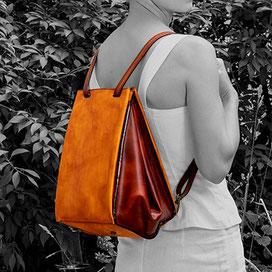 Tasche als Rucksack getragen