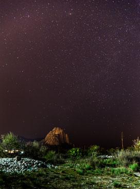 Night sky full of stars  mexico Pena de bernal