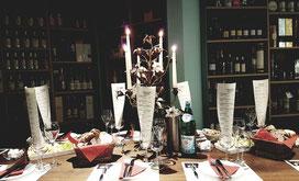 Gedeckter Tisch bei Wein Fohs