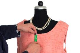 Funkenflug Design Nähschule ganz vernaht Galerie 2 Kleid rosa Detail