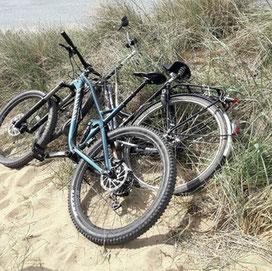 Mit dem Rad an den Strand