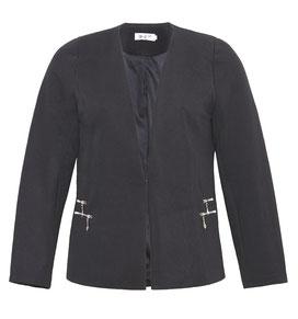 schwarze Jacke für mollige junge Damen , Große Größen