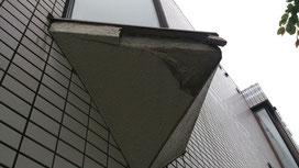 この三角窓の下が一番痛々しかったですが、