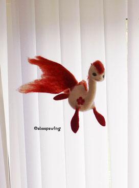 オーダードラゴン 金魚龍 琉金 羊毛フェルト