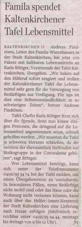 Hamburger Abendblatt 11.04.2020