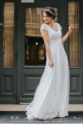 robe de mariée en tulle bohème